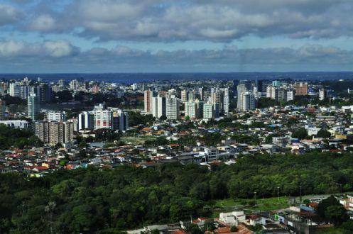 Vista aérea de Manaus - Foto Wikimédia