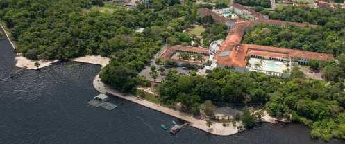Vista aérea do Tropical Hotel Manaus -Foto Divulgação
