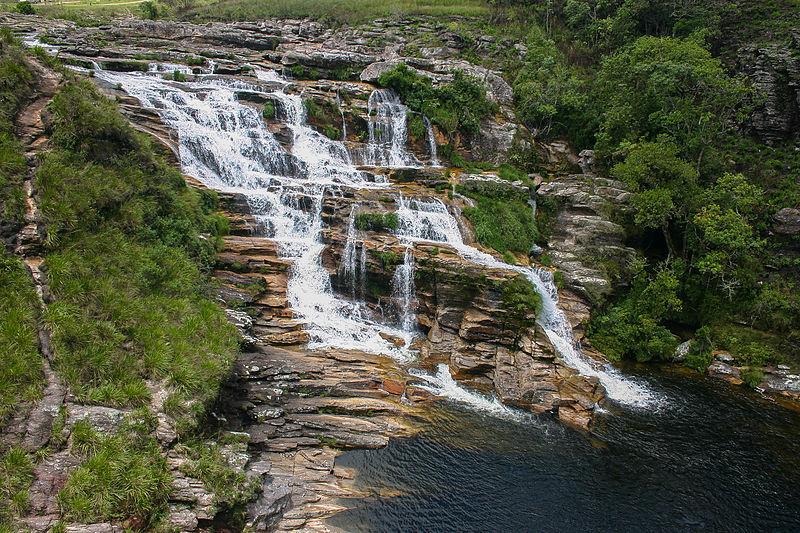 Cachoeira São Francisco - Serra da Canastra Foto Antonio José Maia Guimarães Wikimedia Commons