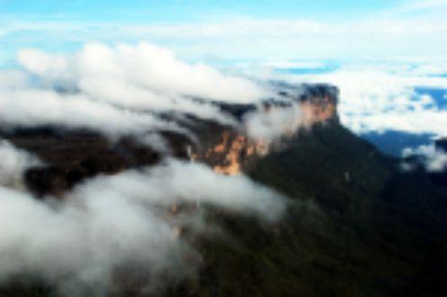 Fumaça de água no Monte Roraima - Foto André Pessoa