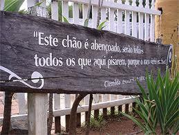 Tabuleta com dizeres da escrava Clemilda - Solar das Andorinhas - SP - Brasil