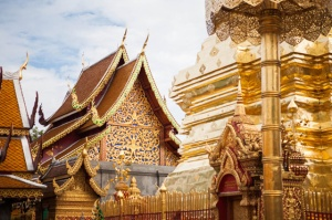 Templos de Wat Doi Suthep Phrathat, na Tailândia