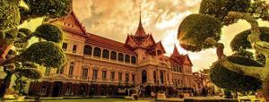 O Grande Palácio Real, em Yangon, a antiga Rangoon, capital de Mianmar.