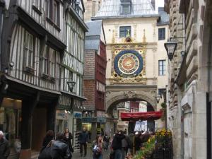 A Torre do Relógio, em Rouen, Normandia