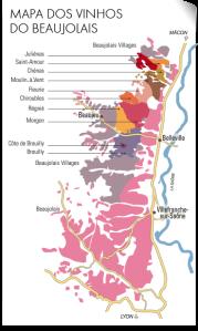 Mapa da região da Borgonha, França