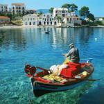 A pesca artesanal ainda é praticada ao redor da ilha de Cefalônia