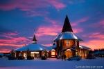 Aldeia do Papai Noel no Círculo Polar Ártico em Rovaniemi na Lapônia na Finlândia