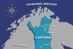 Mapa da Lapônia