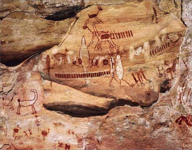 O parque é um dos maiores acervos de pinturas rupestres do mundo.