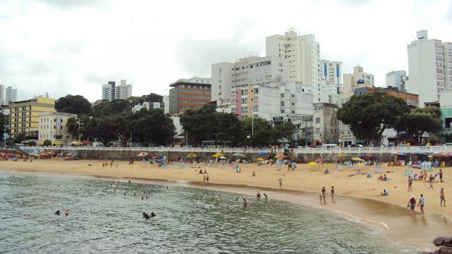 Praia da Barra, em Salvador, Bahia