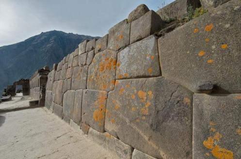 Aspecto da imensa Fortaleza de Ollantaytambo