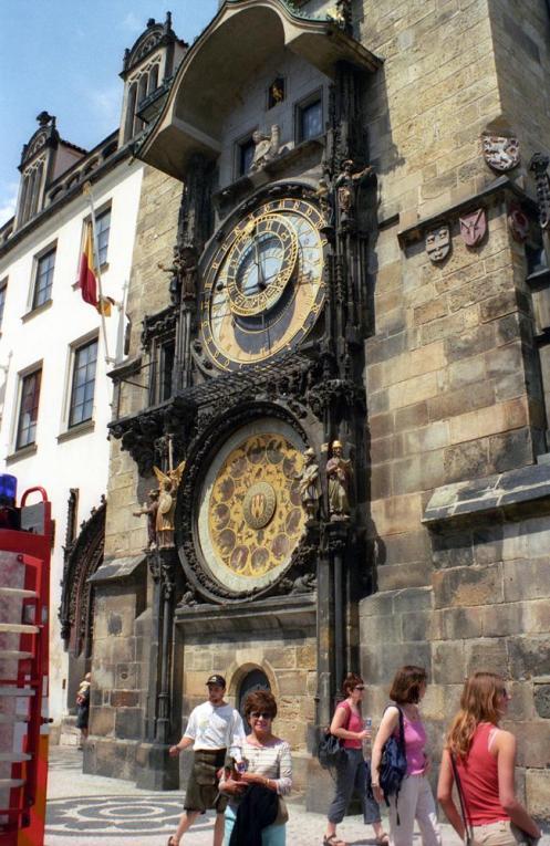 O relógio astronômico, um dos hotspots do turismo em Praga