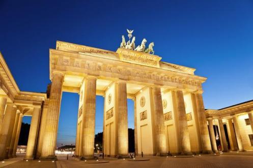 A Porta de Brandenburgo, um dos símbolos de Berlim