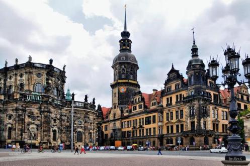 Região do centro histórico de Dresden.