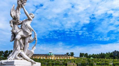 Jardins do Palácio Sanssouci, em Potsdam, integram os patrimônios da Unesco.