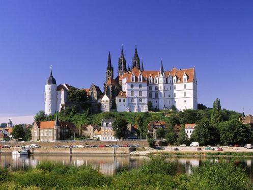 O Castelo Albrechtsburg, no Vale do Elba, na Saxônia.