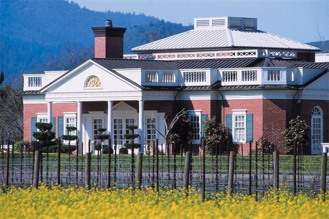 A vinícola da família Corley, uma das mais importantes de Monticello.