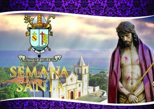 Cartaz anuncia as comemorações da Semana Santa em Olinda e Recife.