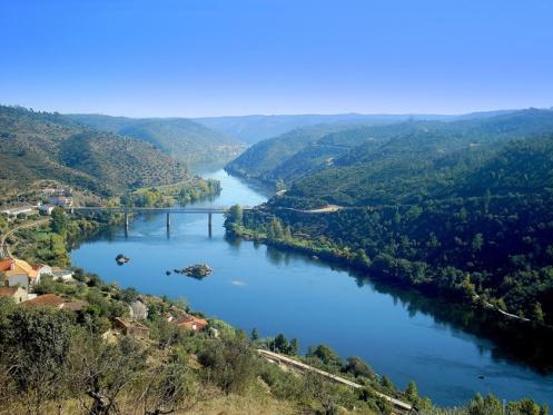 O Rio Tejo, em Belver, no Alto Alentejo.