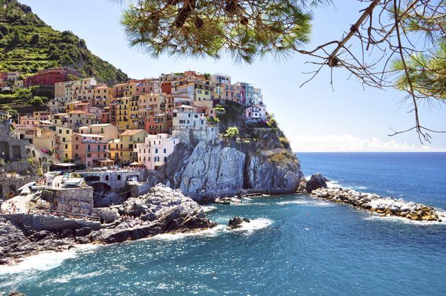 Cinque Terre, no litoral da Ligúria, Itália, está no roteiro dos cruzeiros MSC