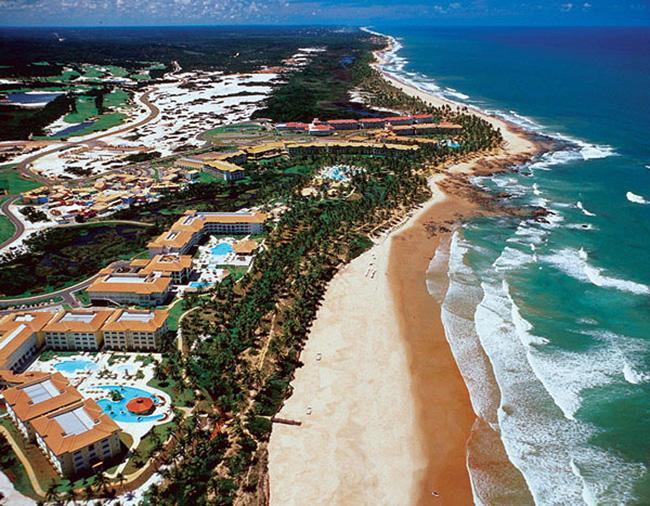 Costa do Sauípe, um dos destinos mais concorridos do litoral da Bahia.