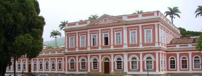 Fachada do Museu Imperial, em Petrópolis, no Rio de Janeiro.