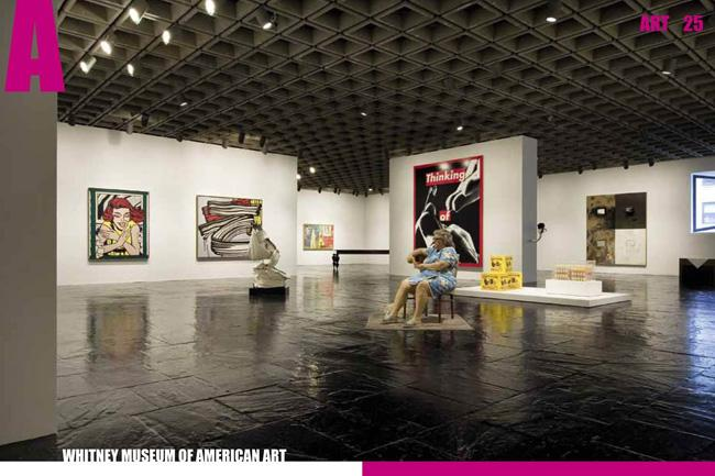 Galeria no Whitney Museum of American Art, em Nova York, nos Estados Unidos.