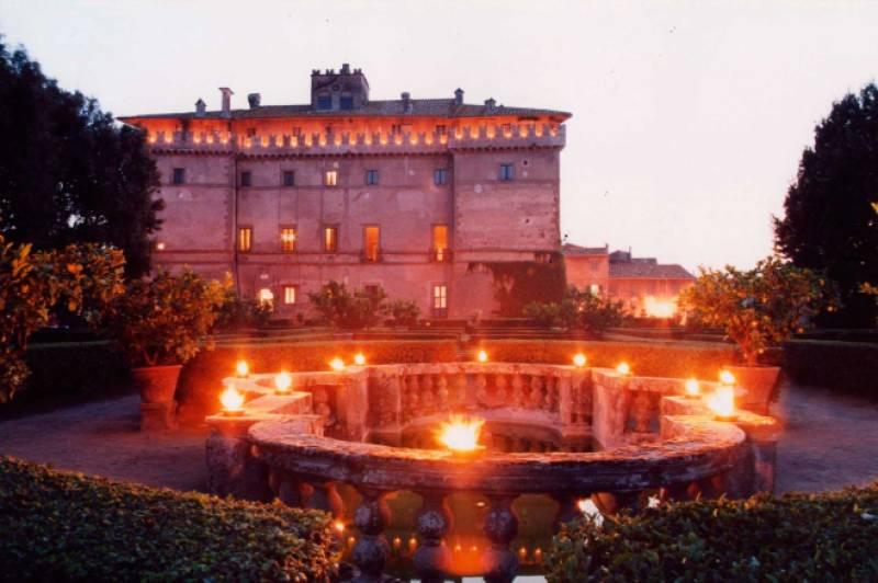 Castelo Ruspoli, em Vignanello, ao norte de Roma, Itália.
