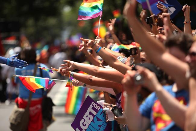 Festa do Orgulho Gay em Nova York, nos Estados Unidos.