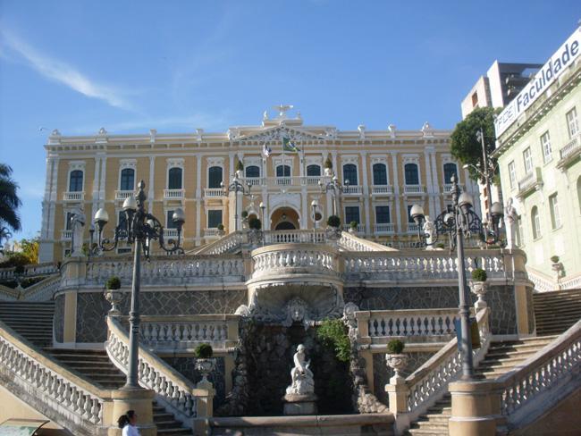O Palácio Anchieta, sede do governo em Vitória.