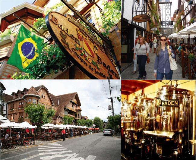 Baden Baden, a cervejaria artesanal é um animado ponto de encontro e paquera.