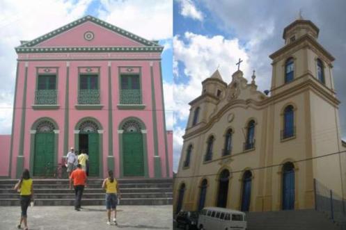 Imagens do centro antigo de Alagoa Grande, na Paraíba.