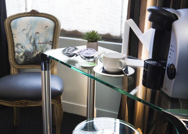 Sacada do Le Fabe, hotel de charme em Paris, na França.