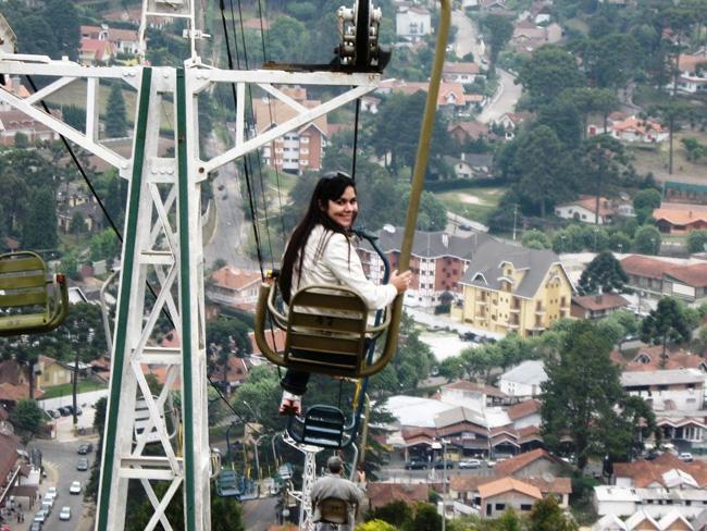 Teleférico de Campos do Jordão, leva ao topo do Morro do Elefante.