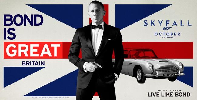 Cartaz da campanha Bond is Great, na Grã Bretanha