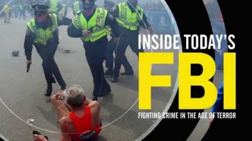 Cartaz da mostra Inside Today´s FBI- Fighting in the Age of Terror