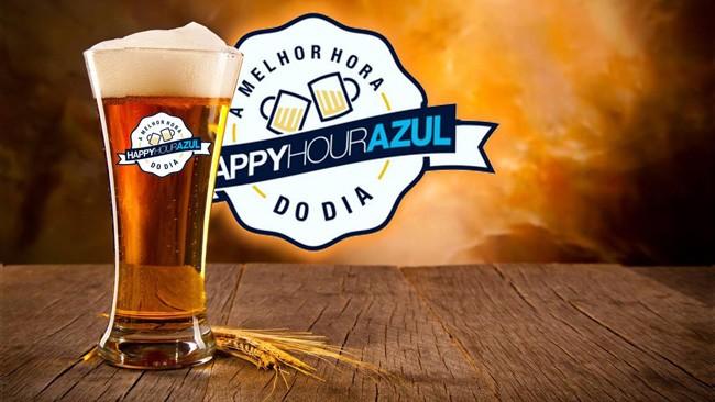 Cerveja Faxe oferecida na Happy Hour da Azul