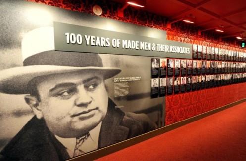 Imagem de Lucky Luciano, no Museu da Máfia, em Las Vegas, nos Estados Unidos.