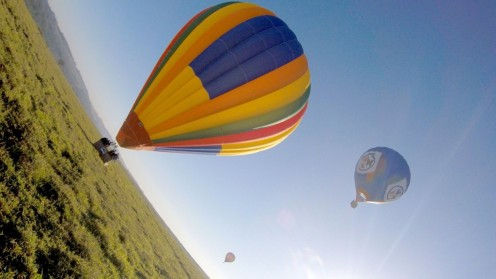O voo de balão, novidade do Parque Maeda.