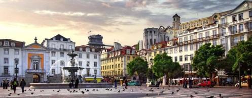 Praça da Figueira, em Lisboa. Portugal agora ainda mais perto com leitura ótica