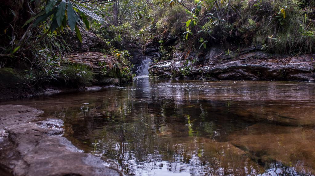 Circuito das Cachoeiras, córrego da Independência - Foto por Gcom - MT - Rafaella Zanol