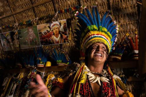Cacique Rony Foto Junior Silgueiro - Gcom - MT