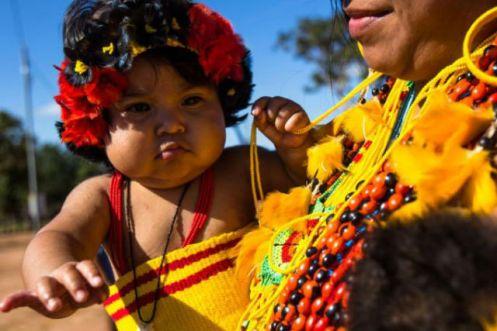 Indiazinha da Aldeia Wasare na cidade Campo Novo de Parecis no Estado de Mato Grosso Brasil