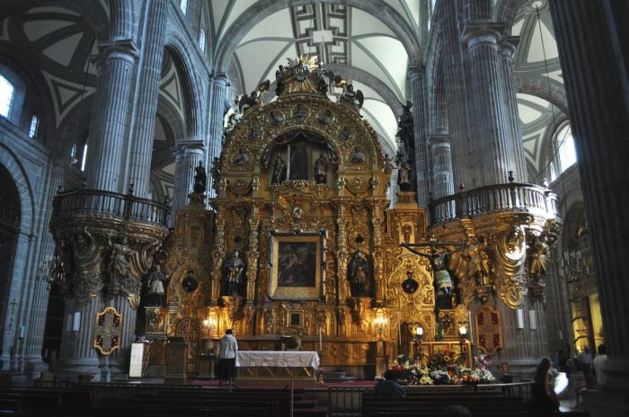 Altar da Catedral Metropolitana da Cidade do México