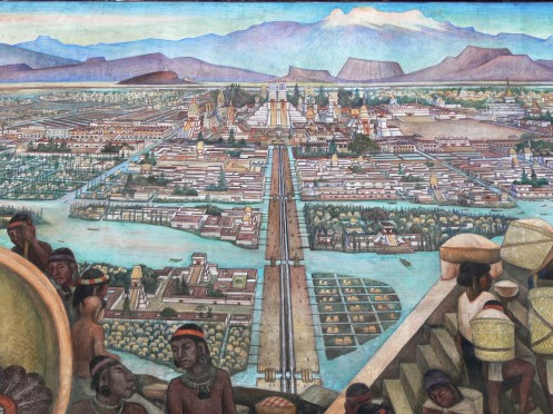 Teotihuacán - Murales Rivera - Markt in Tlatelolco.jpg