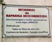 Memorial da Rapariga Desconhecida em Jaraguá (Maceió) - Foto site