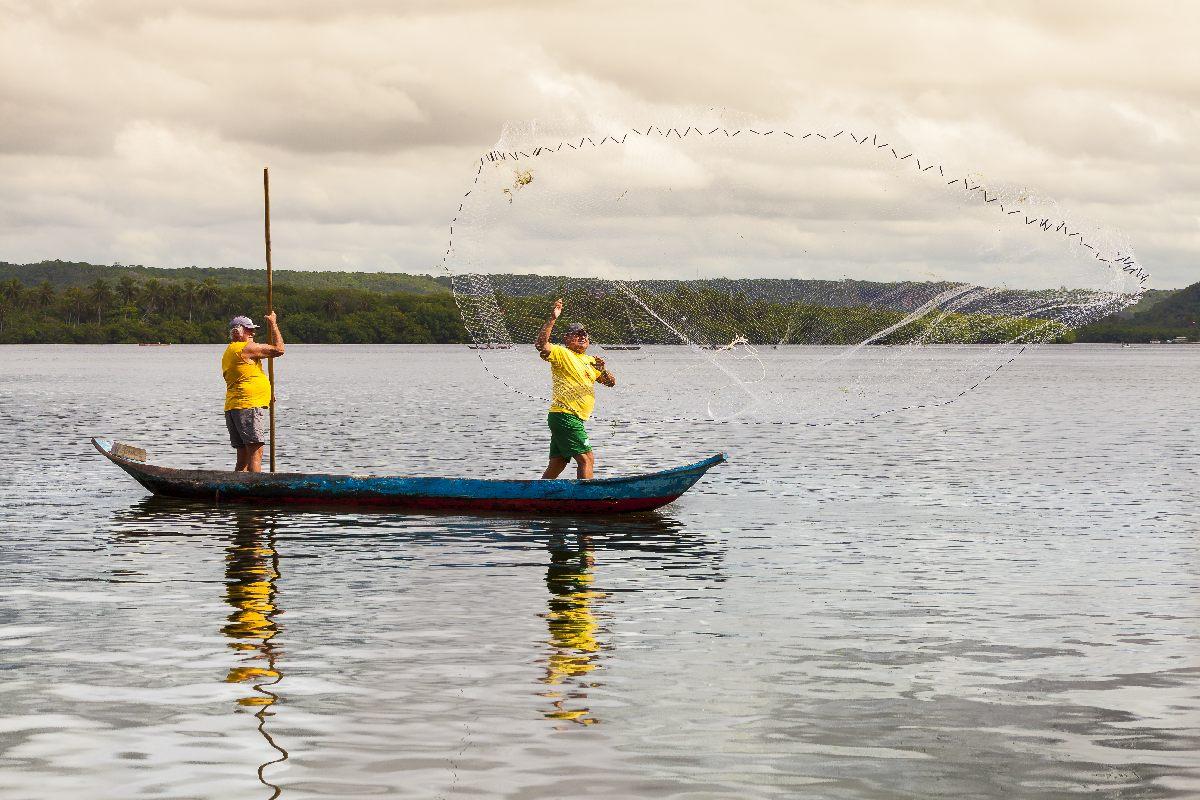Pescadores na Lado Mundaú - Foto Semptur