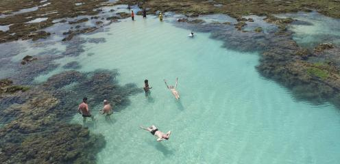 Piscina natural no Pratagy Beach
