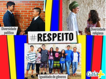 Campanhas da Gaia+ para incentivar a cidadania e o respeito às diferenças