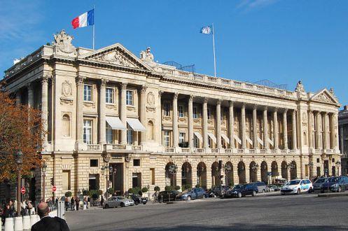 Fachada do Hotel Crillon em Paris - Foto Wikimedia